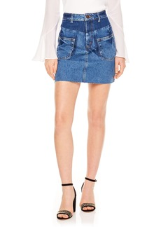 sandro Blue Vintage Denim Skirt