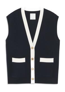 sandro Button-Up Vest