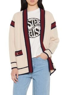 sandro Cable Stripe Cardi Coat