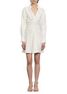 sandro Celia Long Sleeve Ruched Minidress
