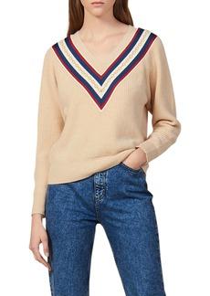 sandro Chains V-Neck Sweater