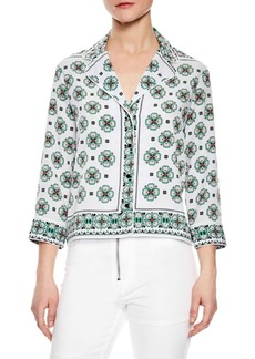 Sandro Chantal Button-Front Top