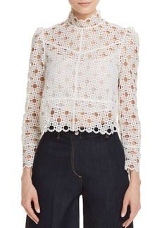 Sandro Coralisse Eyelet-Lace Top