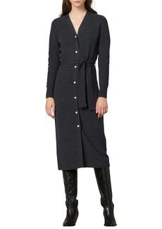 sandro Cosy Long Sleeve Midi Sweater Dress