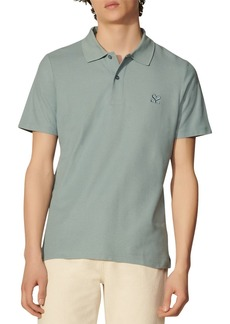 Sandro Cotton Embroidered Straight Fit Polo Shirt