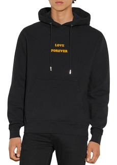 Sandro Cotton Love Forever Hoodie