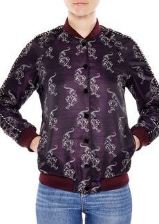 Sandro Detroit Printed Bomber Jacket
