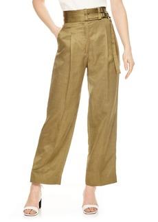 sandro Double Belt Crop Wide Leg Pants