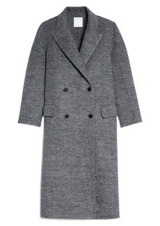 Sandro Double Breasted Long Jacket