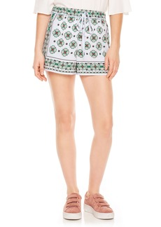 sandro Drawstring Print Shorts