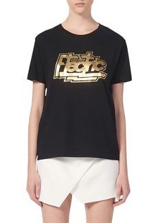 sandro Electric Graphic Crewneck T-Shirt