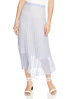 Sandro Eode Sheer-Detail Graphic Midi Skirt