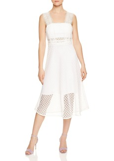 Sandro Etta Lace Midi Dress