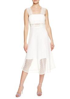 Sandro Etta Mid-Length Lace Dress