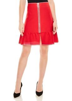 Sandro Eudine Front-Zip A-Line Skirt