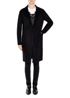 Sandro Fame Pinstripe Coat