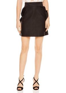 Sandro Fanette Ruffled A-Line Mini Skirt