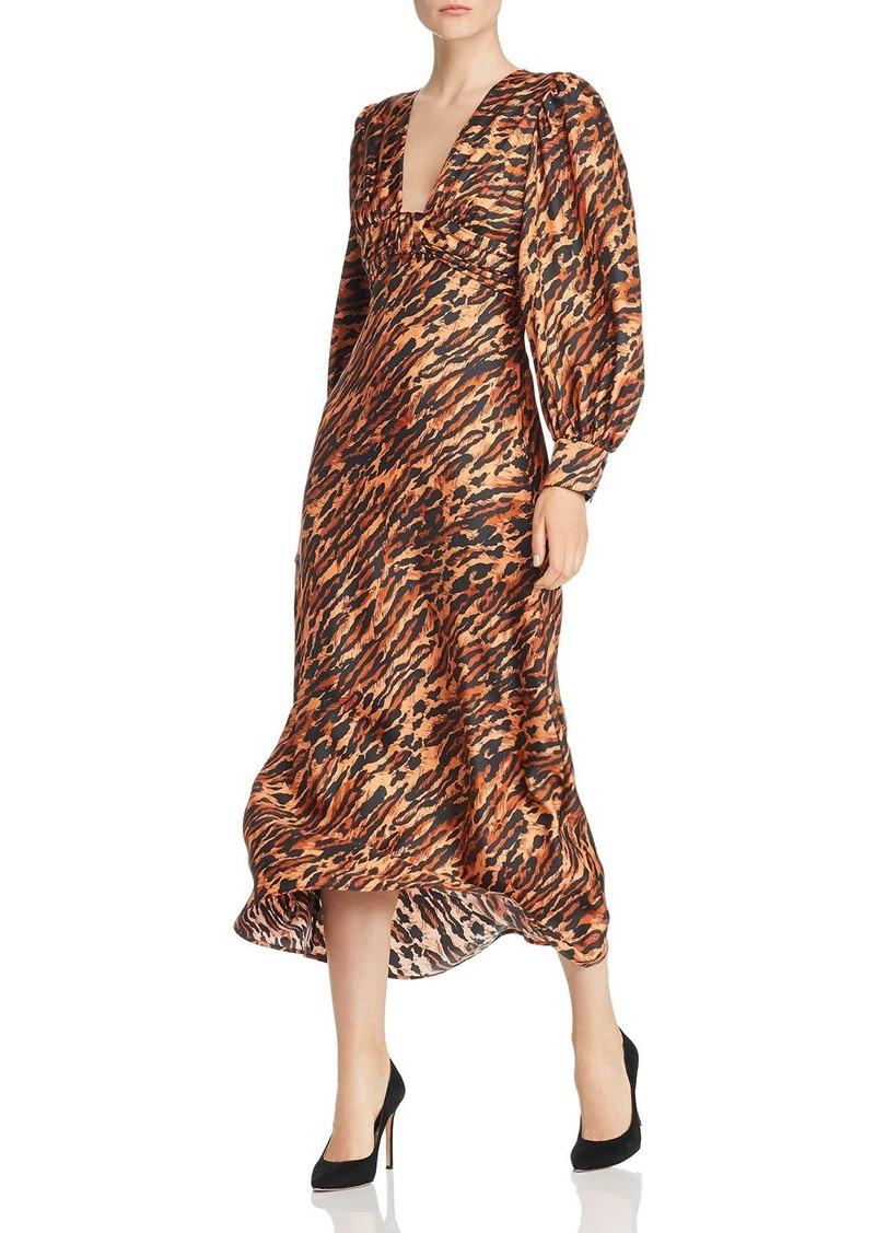 Sandro Faunie Animal-Print Silk Midi Dress - 100% Exclusive