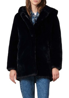 sandro Faux Fur Coat