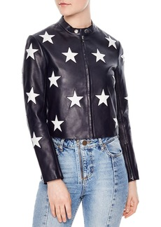 Sandro Felicy Embellished Leather Jacket