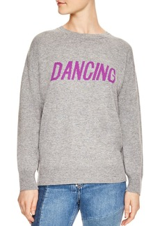 Sandro Figlio Wool & Cashmere Dancing Graphic Sweatshirt