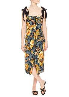 sandro Floral Silk Sundress