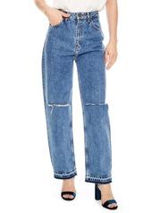 Sandro sandro fluffy straight leg jeans blue vintage abvfa19e9e2 a