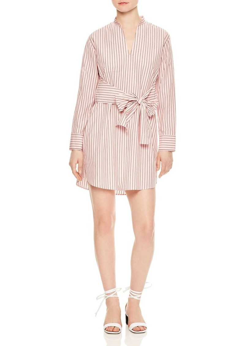 66f5f91283d SALE! Sandro Sandro Franz Striped Tie-Front Cotton Shirt Dress