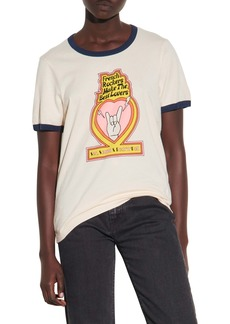 sandro French Rockers Cotton Ringer Graphic Tee