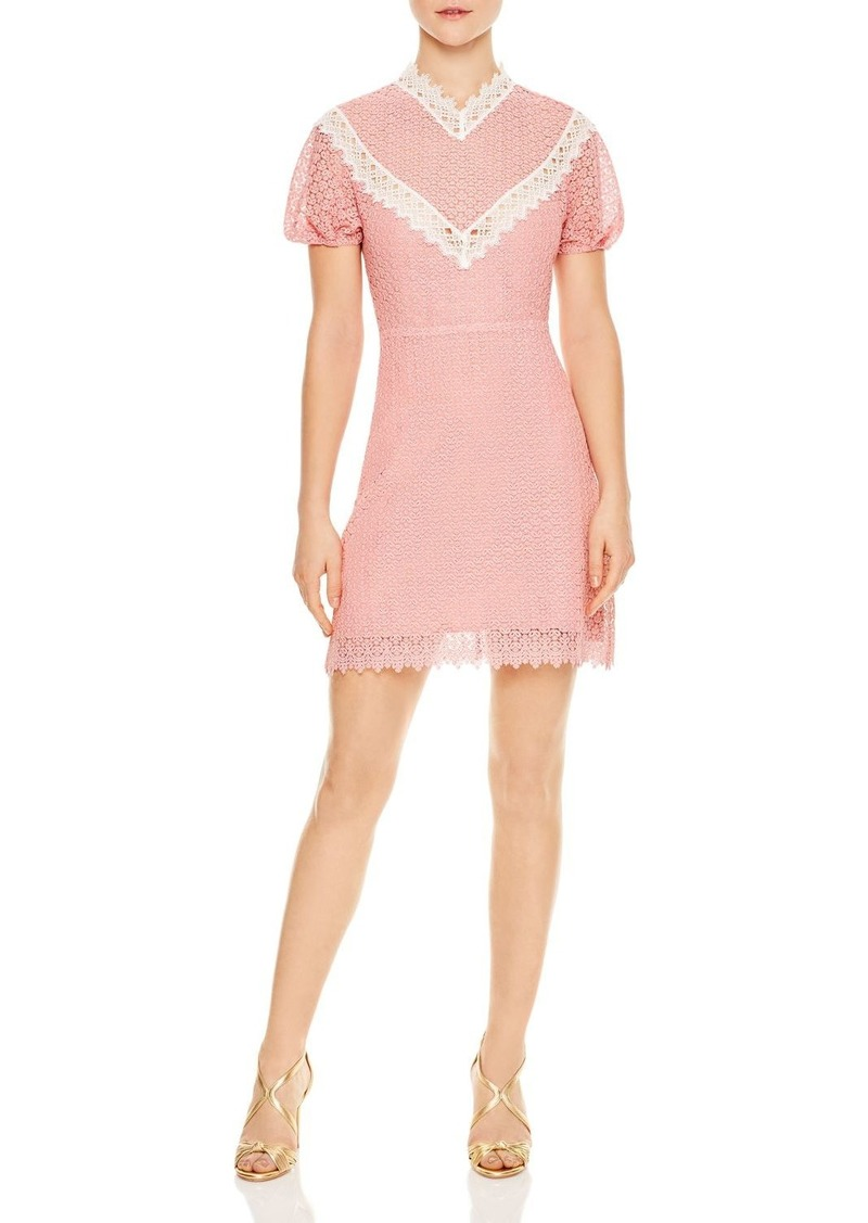 Sandro Gavin Lace Mini Dress