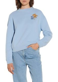 sandro Golden Palm Sweatshirt