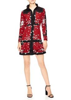 sandro Grommet Detail Mini Dress