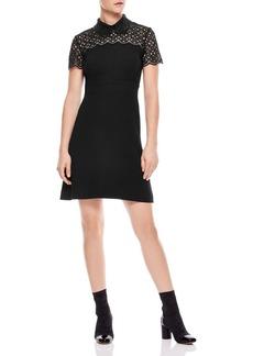 Sandro Iberia Embellished Lace Inset Dress
