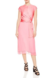 Sandro Janyce Pleated Midi Dress
