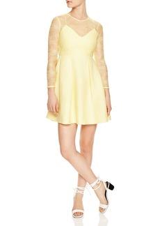 Sandro Jeanette Lace-Detail Mini Dress