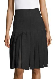 Sandro Jemma Box Pleated Skirt