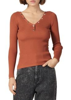 sandro Justy Ribbed Sweater