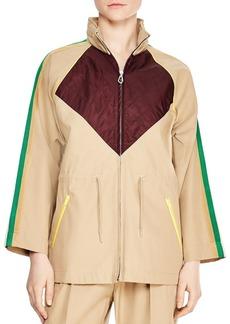 Sandro Katerina Color-Blocked Coat