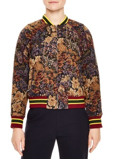sandro Kenzy Floral Jacquard Bomber