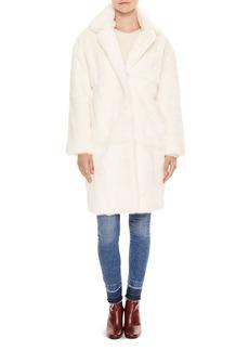 Sandro Kingdom Fur Coat