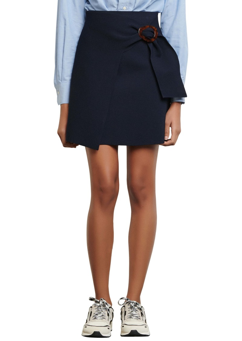 sandro Knit Skirt with Buckle