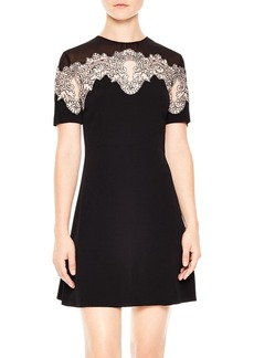 Sandro Kyra Lace-Inset Dress