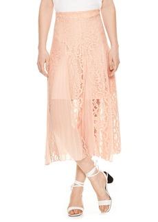 sandro Lace Midi Skirt