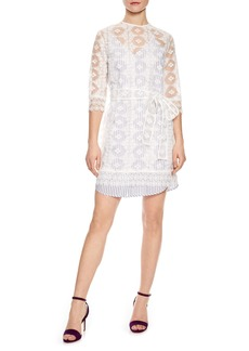 sandro Lace Overlay Dress