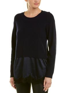 Sandro Lace Wool-Blend Sweater