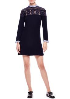 sandro Lace Yoke A-Line Dress