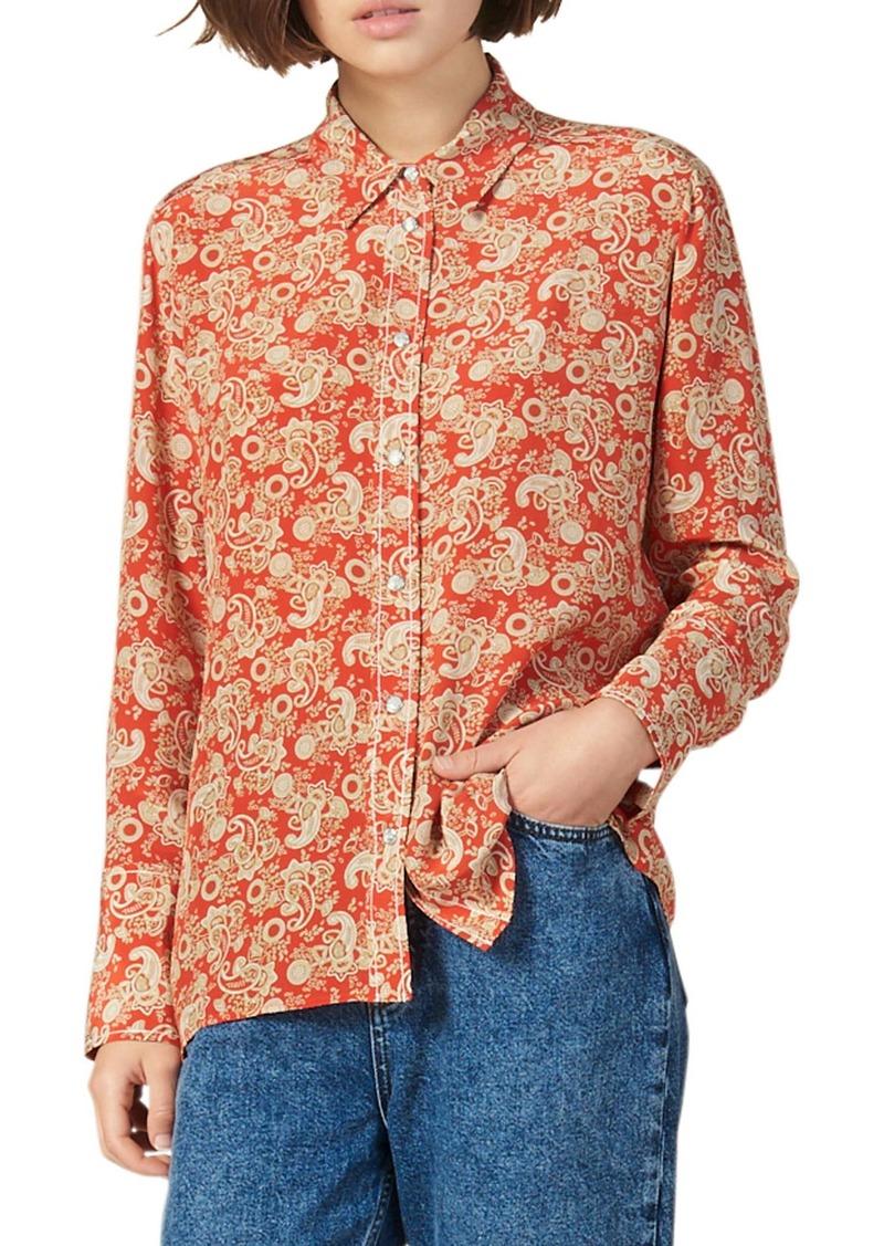 sandro Lanni Paisley Silk Shirt