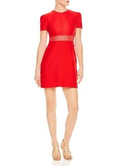 Sandro Lauralie Lace-Inset A-Line Mini Dress