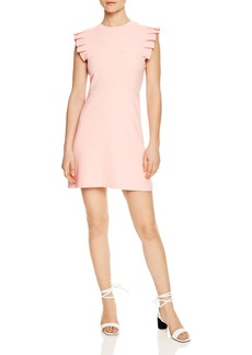 Sandro Laurena Pleat-Detail Mini Dress