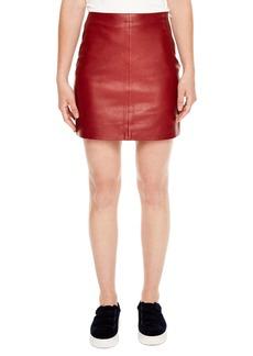 sandro Leather Skirt
